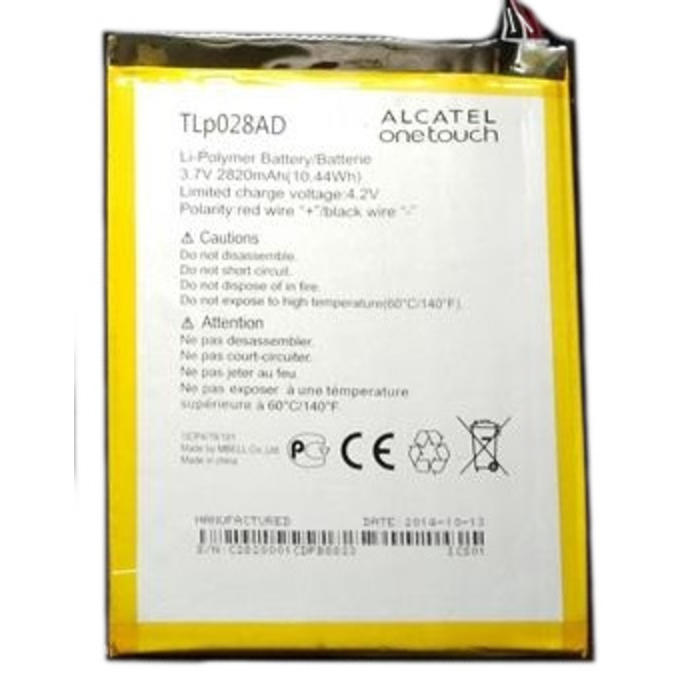 Batería Alcatel Tablet TLP028AD 3.7v 2820mAh 10.44wH OneTouch Tab 7